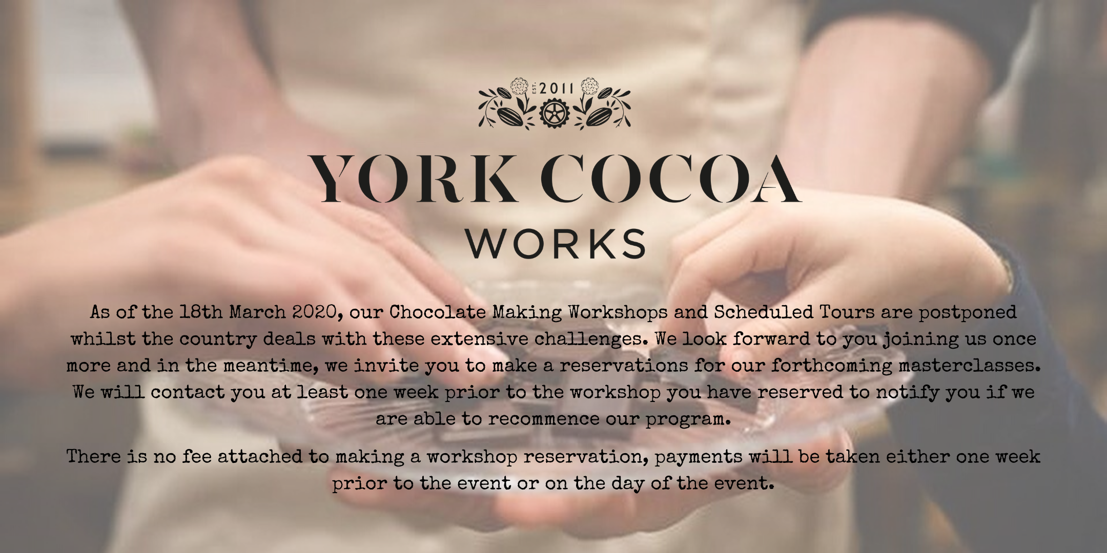 York Cocoa Works Chocolate Tasting Class