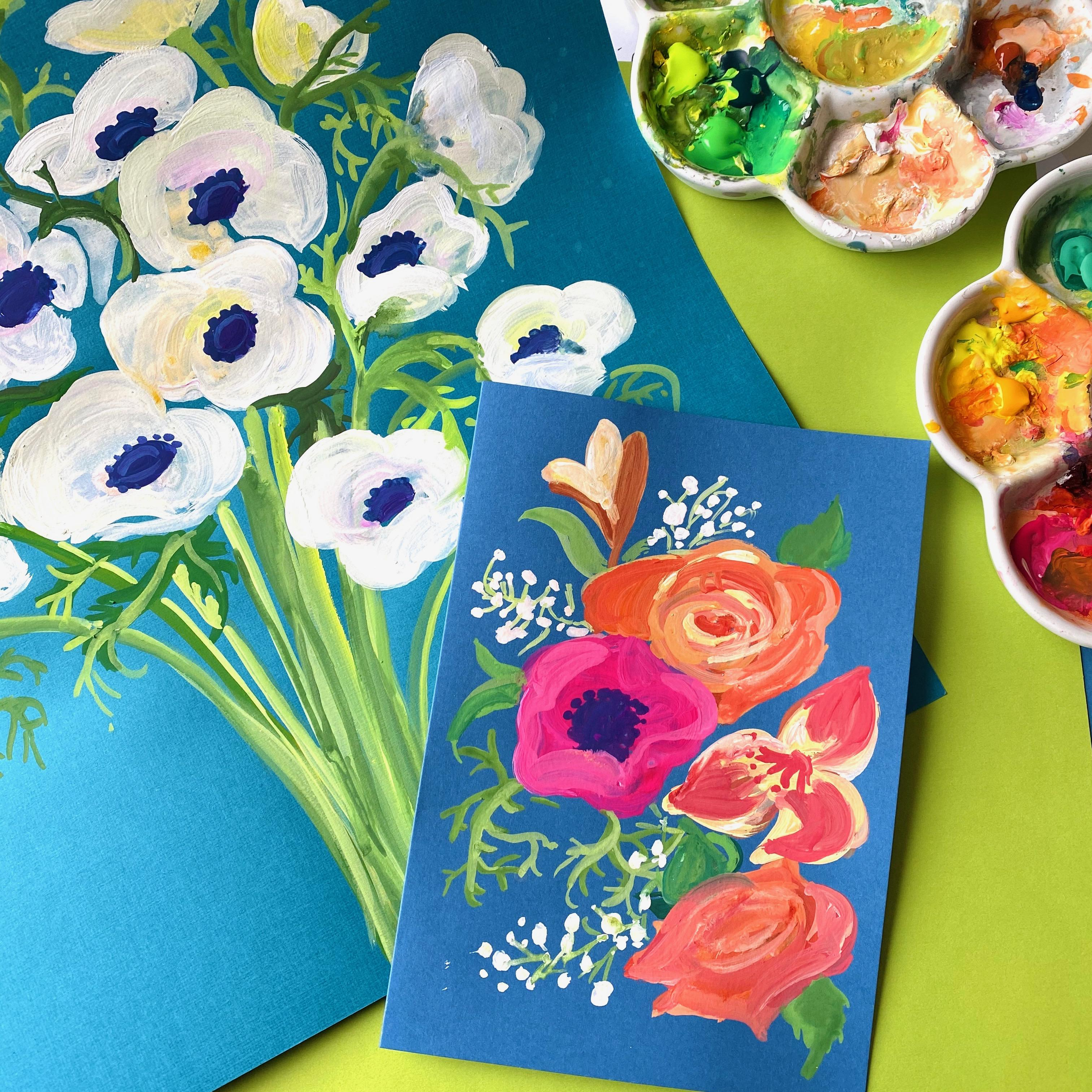 Drink & Draw - Say it with Flowers!