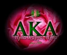 Alpha Kappa Alpha Sorority, Incorporated Rho Psi Omega Chapter logo