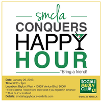 Social Media Club Los Angeles Conquers Happy Hour!