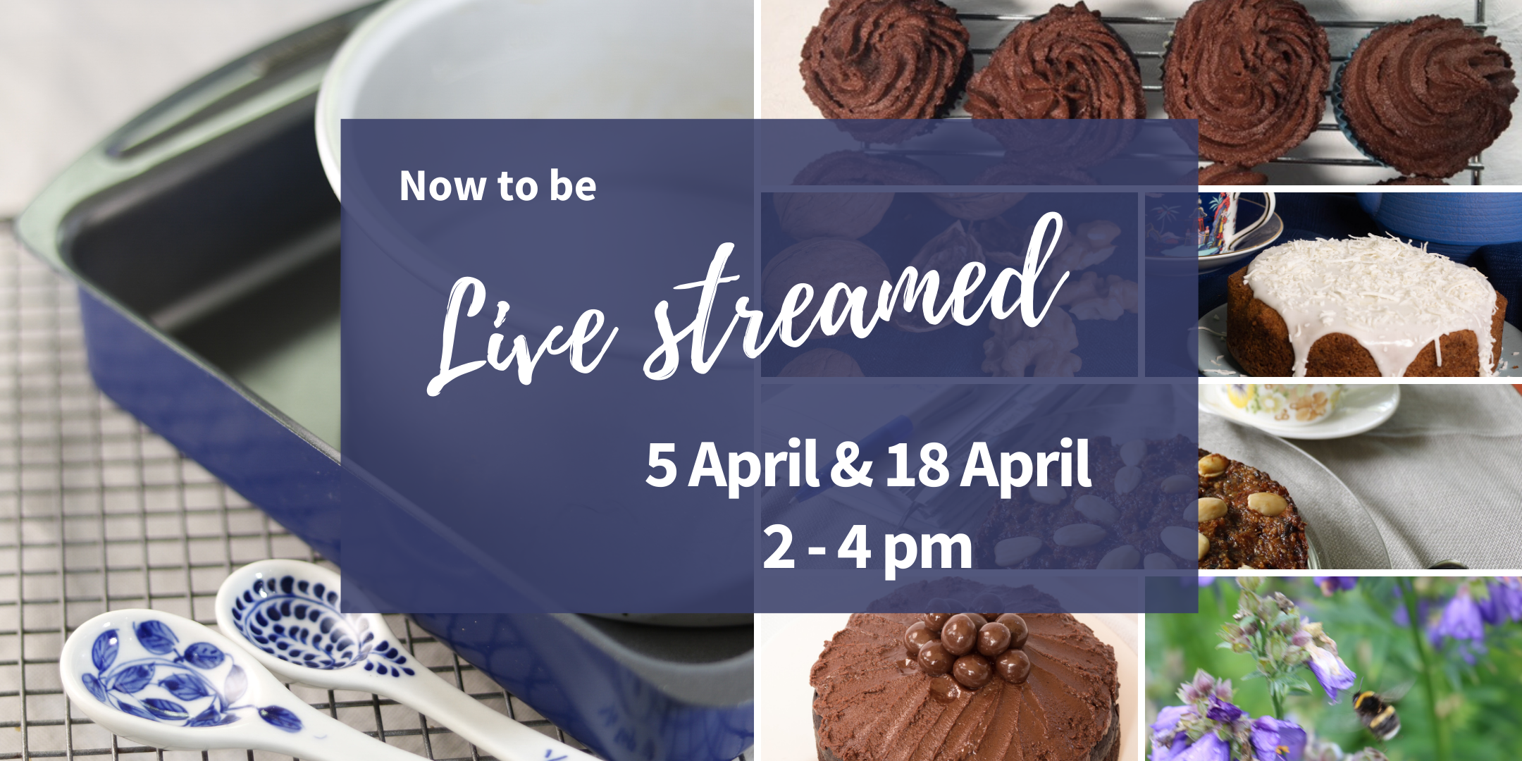 Now to be live streamed Plant Based Vegan Cake Baking Workshop
