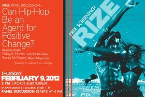 """FREE Movie + Panel: """"RIZE"""" & """"Can Hip-Hop Be an Agent..."""