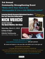3rd Annual Community Strengthening Event with NICK VUJICIC