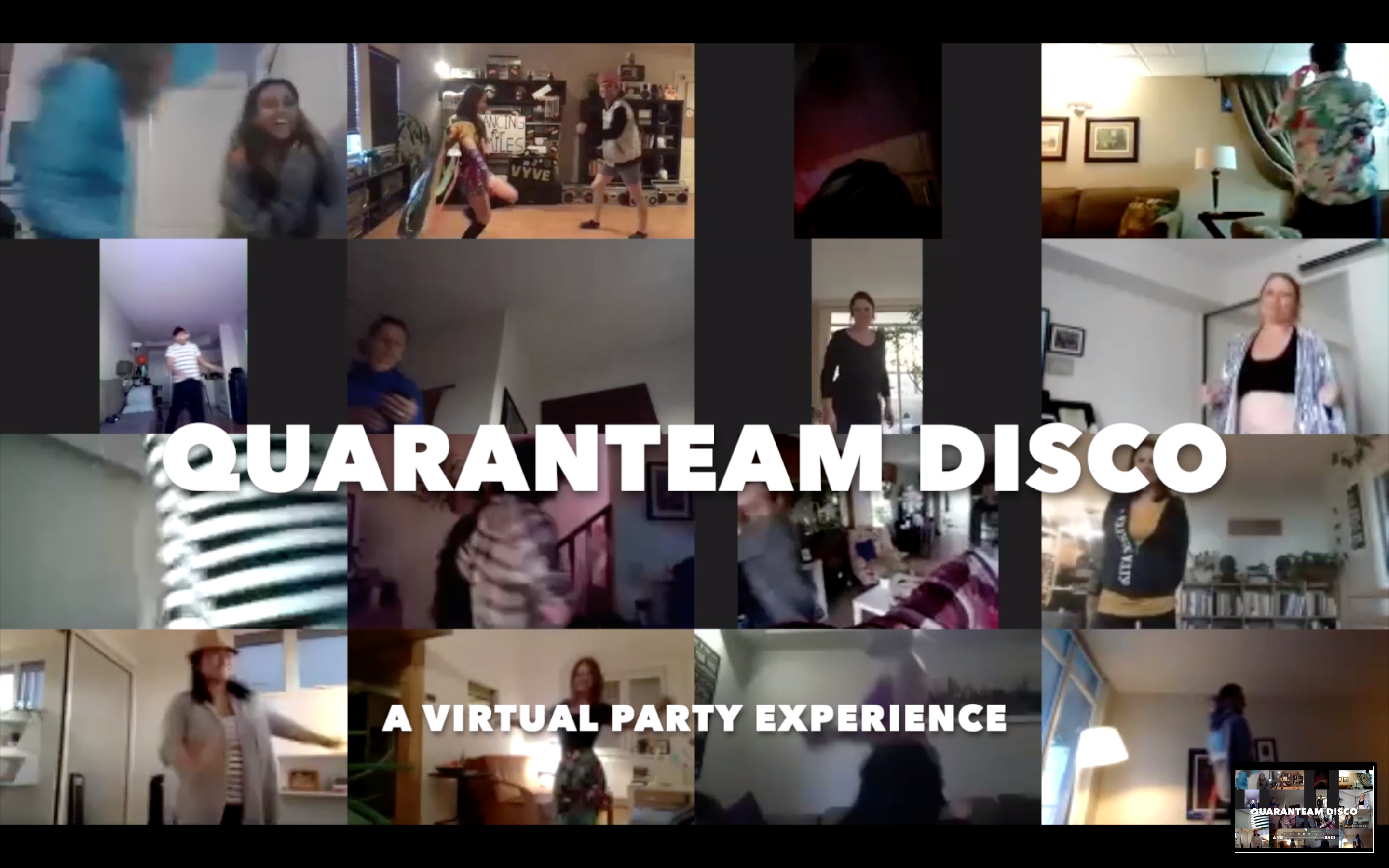 QuaranTEAM Disco | A Virtual Dance Party Experience