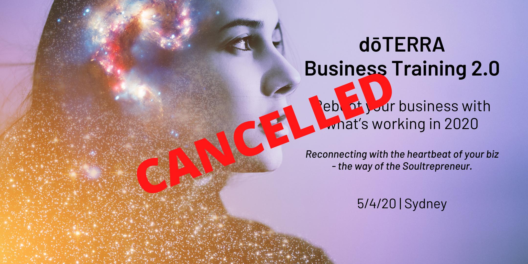 CANCELLED: SYDNEY dōTERRA Business Training 2.0 5/4/20