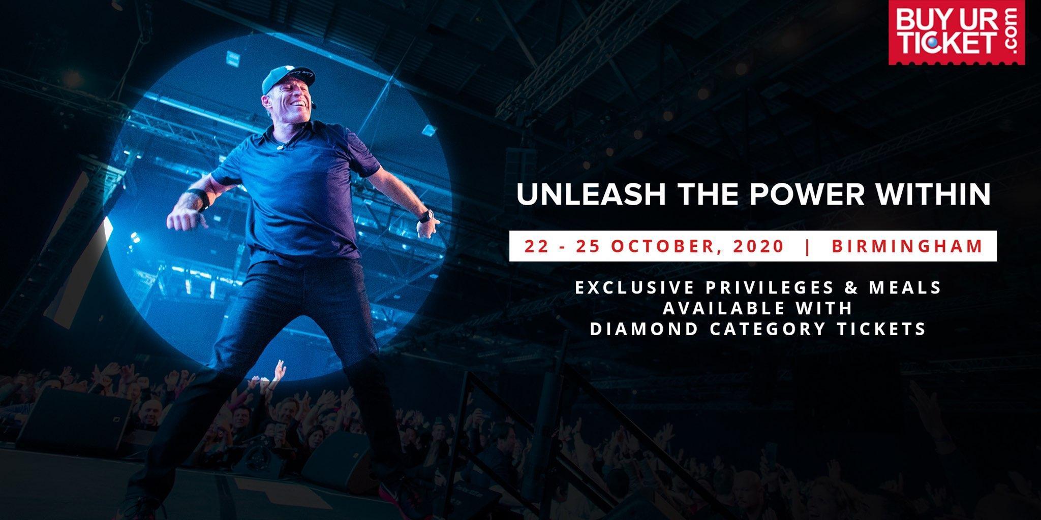 Tony Robbins UPW Birmingham | Diamond Ticket & Get Premium Experience