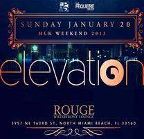 ELEVATION • SUNDAY JAN 20 • ROUGE Waterfront Lounge -...