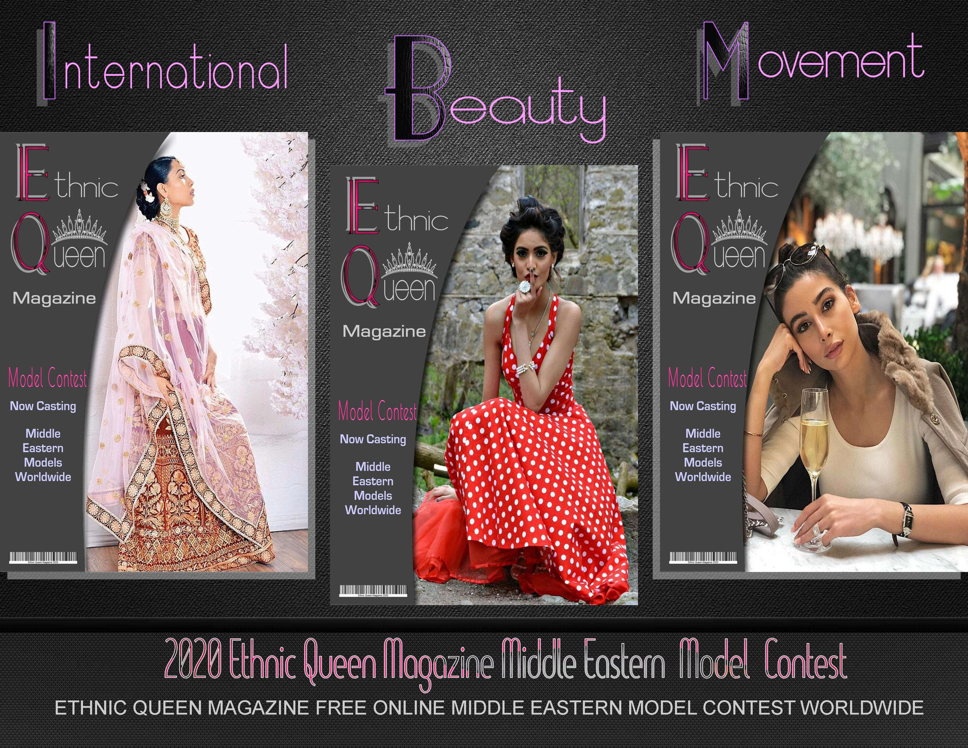 Ethnic Queen Magazine Middle Eastern Cover Model Contest Free Online