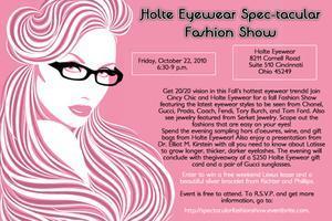 Holte Eyewear Spec-tacular Fashion Show