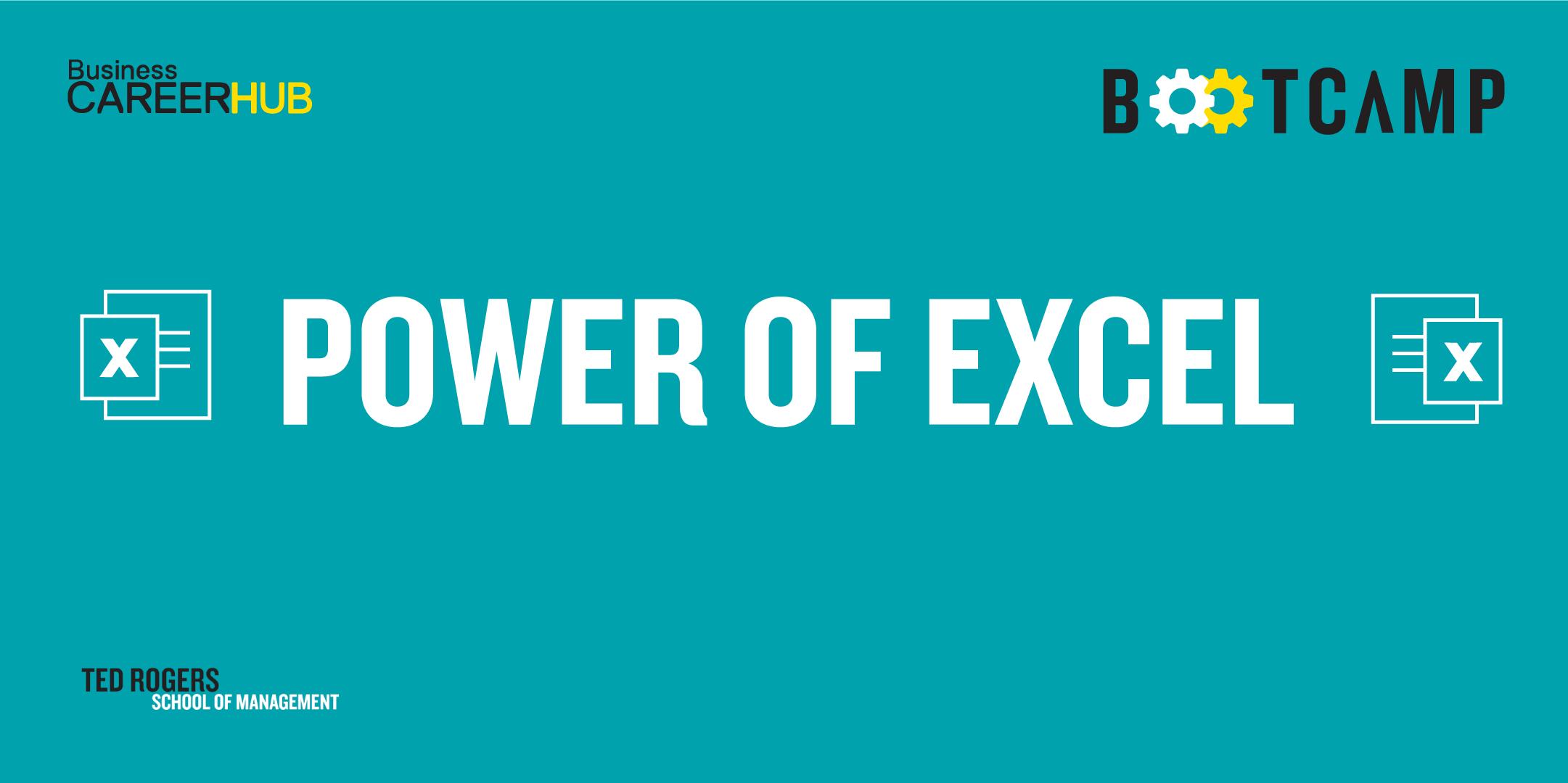 [VIRTUAL] Excel BM Bootcamp: Level 1