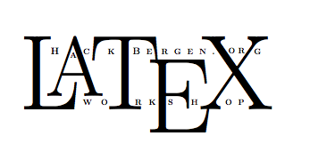 Workshop: Sett teksten din i LaTeX