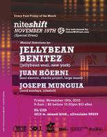Friday November 19th Niteshift presents JELLYBEAN...