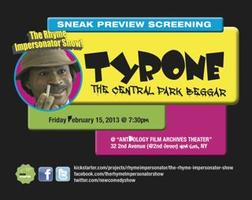 "THE RHYME IMPERSONATOR SHOW SCREENING of ""TYRONE - THE..."