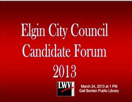 Elgin City Council Candidate Forum