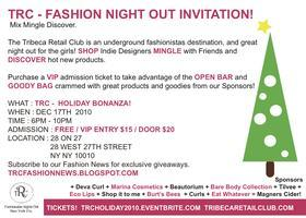 TRIBECA RETAIL CLUB - HOLIDAY SHOPPING EVENT!