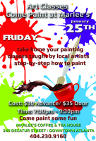 Paint Classes - Come paint at Marlee's - BYOB (WINE)