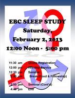 """Emmanuel Baptist Church """"EBC SLEEP STUDY"""""""