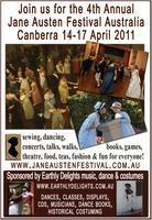 Jane Austen Festival Australia 14-17 April 2011
