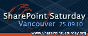 SharePoint Saturday Vancouver 2010