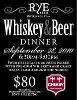 Whisky & Beer Dinner At Rye House