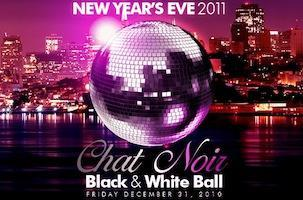CHAT NOIR: Black & White Ball NYE 2011