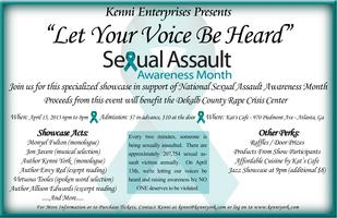 LET YOUR VOICE BE HEARD - NSAA  Benefit Event