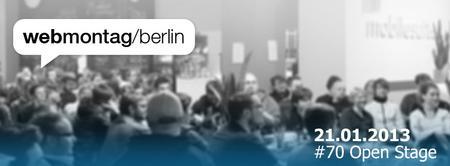 WebMontag Berlin #70 | Open Stage