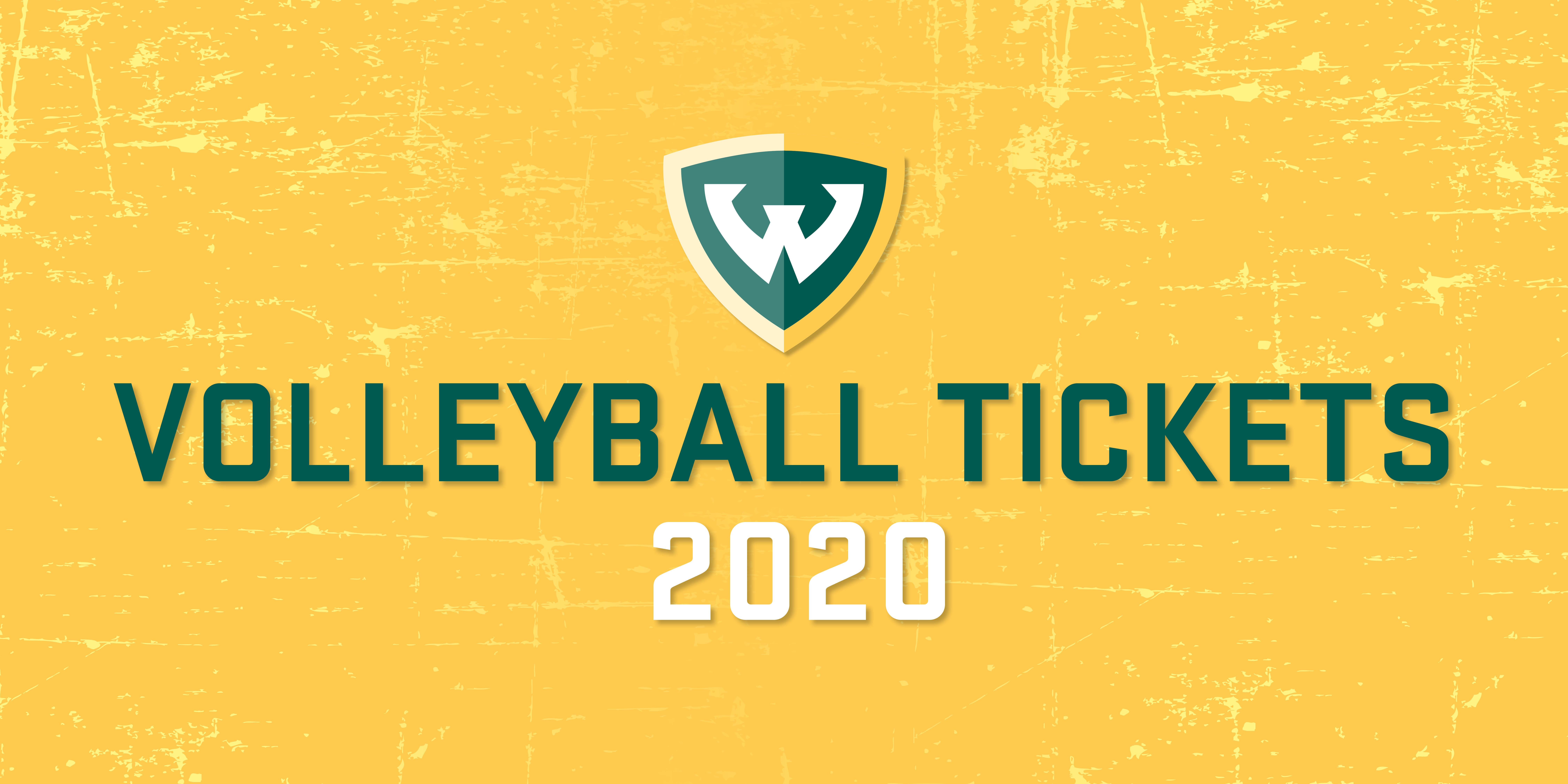 2020 Wayne State Volleyball Individual Game Tickets