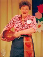 """Julia Child Says: Bon Appétit,""  a one-woman play..."