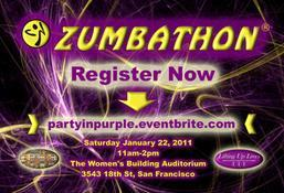 Zumbathon to Lift Up Lives - Party in Purple