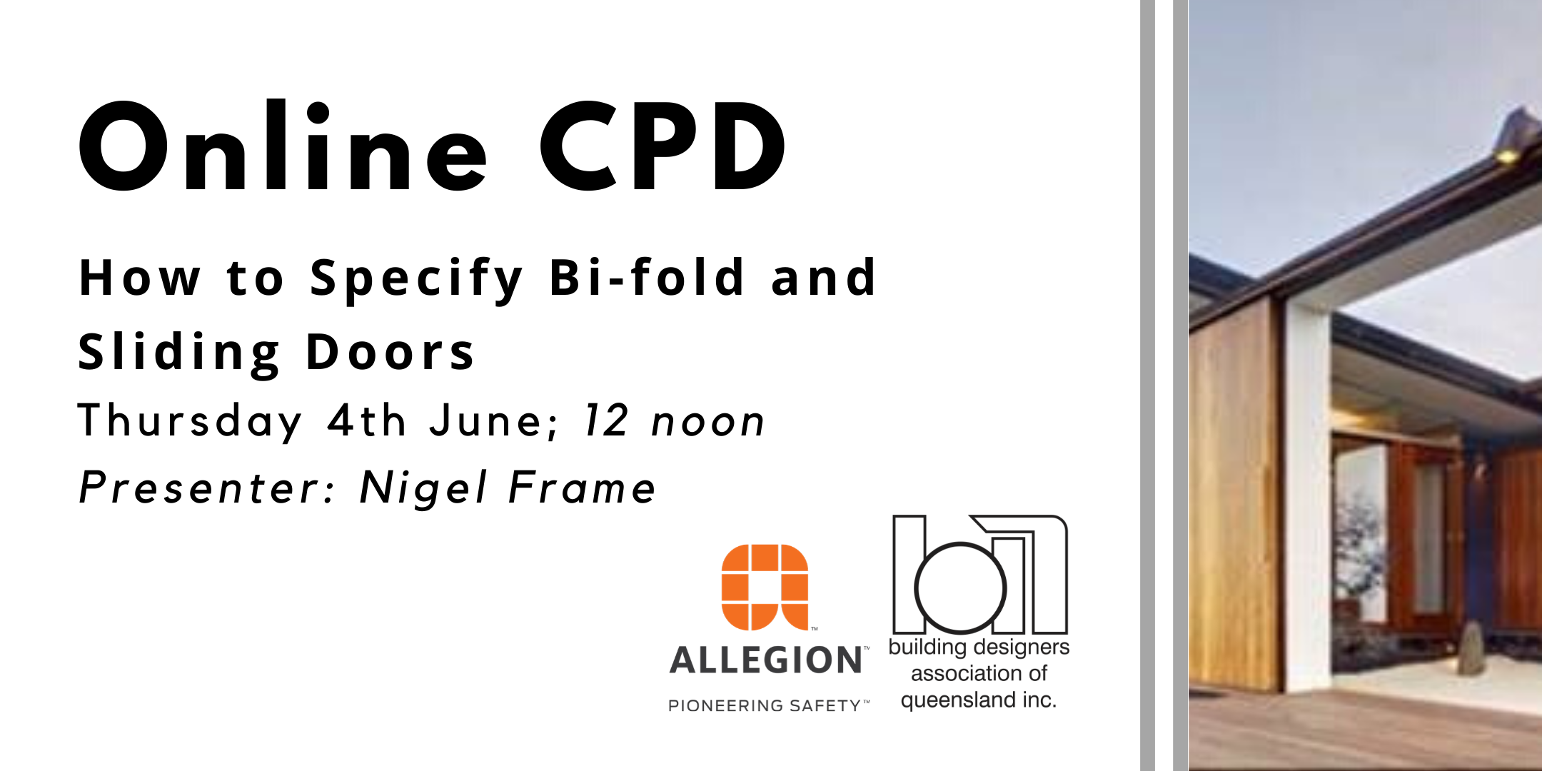 ONLINE CPD: How to Specify Bi-fold and Sliding Doors