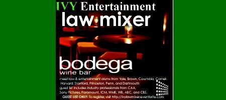 Law & Entertainment Mixer - IVY Entertainment